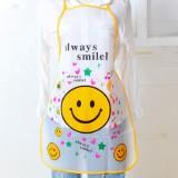 韩版可爱卡通公主围裙  厨房防油防水无袖半身围裙 笑脸 960个/箱