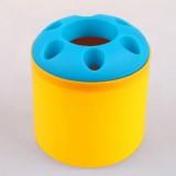 大号糖果色便携式创意牙刷架/笔筒/收纳筒-身黄色 200个/箱