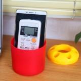 大号糖果色便携式创意牙刷架/笔筒/收纳筒-杯身红色 200个/箱