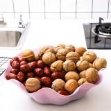创意荷叶形水果盘塑料盘子糖果盘大号干果盘 北欧紫 350个/箱