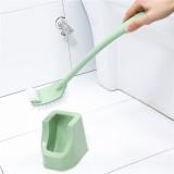 卫生间长柄无死角清洁刷 马桶刷套装底座 绿色