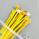 10支中性笔套装笔袋少女心文具水笔签字笔 黄色