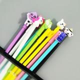 10支中性笔套装笔袋少女心文具水笔签字笔 混色