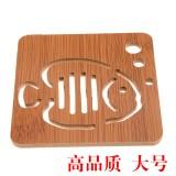 高品质镂空木质杯垫厨房防烫隔热碗垫餐垫 大号泡泡鱼