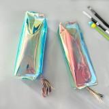 镭射时尚荧光炫彩透明PVC笔袋学生文具铅笔盒