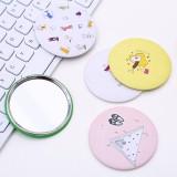 韩版可爱圆形化妆镜随身便携迷你小镜子 彩袋装