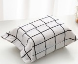 棉麻和风纸巾套纸抽袋 车载布艺抽纸盒纸巾包 白底方格