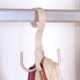特惠款挂包架女包包挂钩挂包钩书包衣柜旋转置物架 米白色