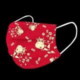 新年圣诞印花口罩儿童成人一次性卡通防尘防护口罩