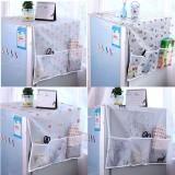 冰箱盖布防尘罩收纳袋透明印花防水盖巾挂袋 颜色随机
