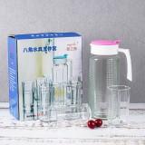八角水具五件套玻璃冷水壶带杯子彩盒套装