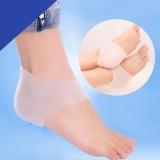 脚后跟干裂开裂防裂套保湿袜子硅胶足跟疼痛保护套 2代特惠款混色装箱