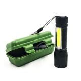 led便携式铝合金手电筒 充电强光小手电 塑料款