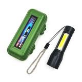 led便携式铝合金手电筒 充电强光小手电