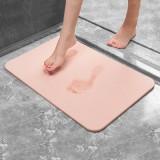 卫生间硅藻泥脚垫吸水速干防滑垫地垫 粉色