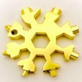 雪花扳手内六角组合卡八角工具螺丝刀户外用品 金色