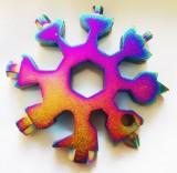 雪花扳手内六角组合卡八角工具螺丝刀户外用品 彩色
